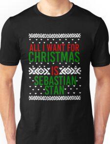 All I Want For Christmas (Sebastian Stan) Unisex T-Shirt