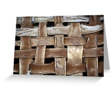 Leather Stripes Greeting Card