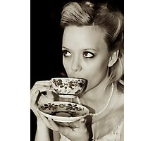 A vintage cup of tea Photographic Print