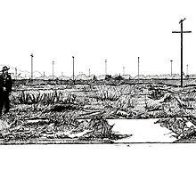 Black Dahlia Crime Scene by Joe Humphrey