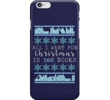 Books for Christmas iPhone Case/Skin