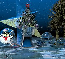 A fantasy Christmas scenery by walstraasart
