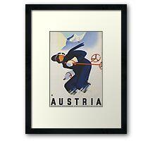 Ski Austria Travel Poster Framed Print