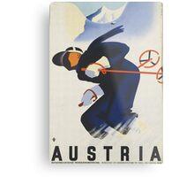 Ski Austria Travel Poster Metal Print