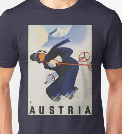 Ski Austria Travel Poster Unisex T-Shirt
