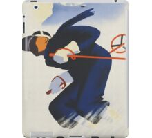 Ski Austria Travel Poster iPad Case/Skin