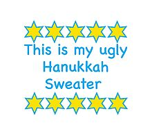 Ugly Hanukkah Sweater  Photographic Print