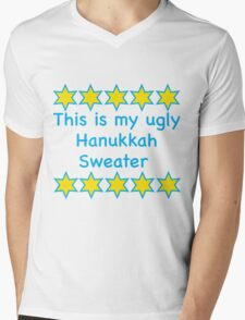 Ugly Hanukkah Sweater  Mens V-Neck T-Shirt
