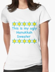 Ugly Hanukkah Sweater  Womens Fitted T-Shirt