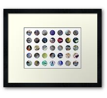 Plastic Bag Abstract Pattern Framed Print