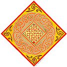 Celtic circle knot with key maze by Marta Lett