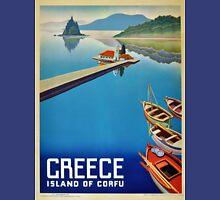 Greece - Corfu Travel Poster Unisex T-Shirt