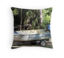 Tinnie out of it's depth, Magnetic Island, Queensland. Throw Pillow