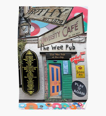 Glasgow West End Sights Poster