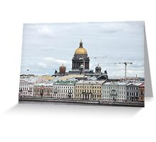 cityscape in Saint Petersburg  Greeting Card