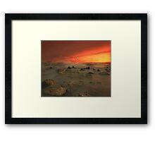 """Moon Rocks"" Framed Print"