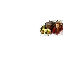 amy pond and sunflowers by dclete