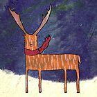 Warm Winter Deer by Cat Bruce