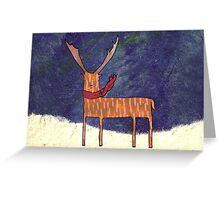 Warm Winter Deer Greeting Card