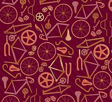 Bicycle Assembly Pattern (autumn) by Benjamin Whealing