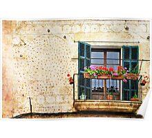 Spanish Balcony Poster