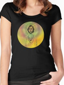60s Psychedelic Hippie Women's Fitted Scoop T-Shirt