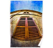 Old Spanish Window Shutters Poster