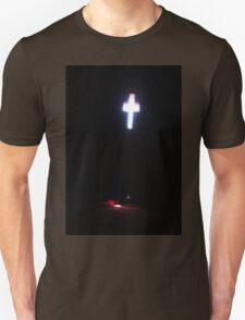 The sun shining through a church window. T-Shirt
