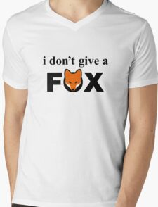 I Don't Give A Fox Mens V-Neck T-Shirt