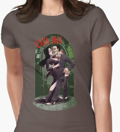 CARA MIA! Morticia <3 Gomez  Womens Fitted T-Shirt