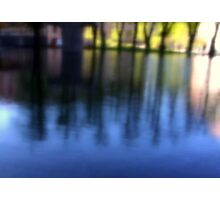 Blurred Tree Reflections Photographic Print