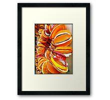 Citrus Wreath Framed Print