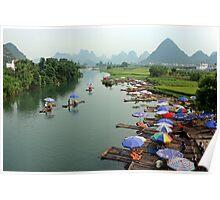 Li River, Yangshuo, Guangxi Poster