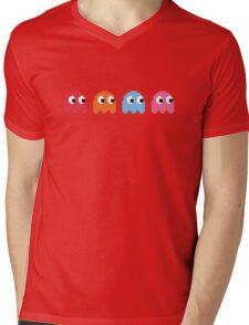 Pixel Ghosts Mens V-Neck T-Shirt