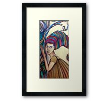 Listening to mother Framed Print