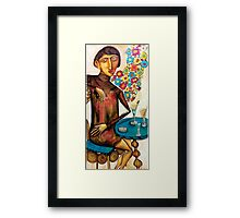 Smoking in the bar Framed Print