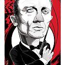 Daniel Craig as James Bond by drawgood