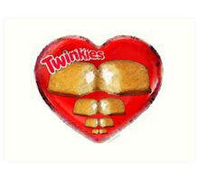 I Love Twinkies Art Print