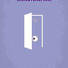 No161 My Monster Inc minimal movie poster by Chungkong