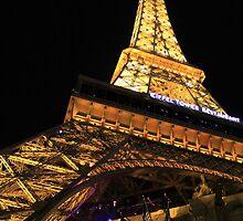 Vegas Eiffel Tower by Tracy Friesen