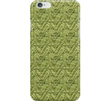 Green Zig-Zag Knit iPhone Case/Skin