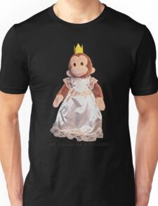 Anyone Can Be A Princess! - Black Text Unisex T-Shirt