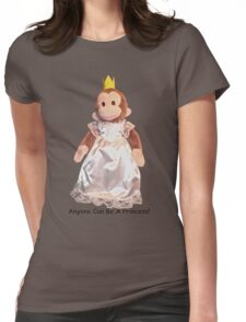 Anyone Can Be A Princess! - Black Text Womens Fitted T-Shirt