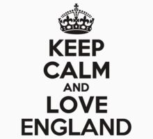 Keep Calm and Love ENGLAND Kids Clothes