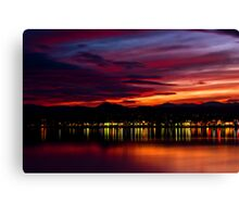 Fire Over The Rockies Canvas Print