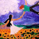 Flight over Sunflowers by Rusty  Gladdish