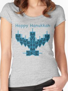 Ugly Hanukkah Sweater 2.0 Women's Fitted Scoop T-Shirt
