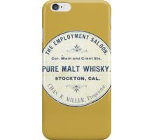 Vintage Whiskey from California iPhone Case/Skin