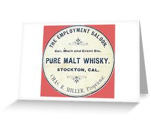 Vintage Whiskey from California Greeting Card