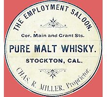 Vintage Whiskey from California Photographic Print